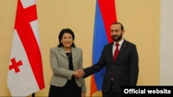 Armenian Parliament Speaker Ararat Mirzoyan meets with Georgian President Salome Zourabichvili, Yerevan, 14 March, 2019