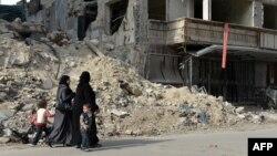 Pamje e shkatërrimeve në qytetin Alepo në Siri