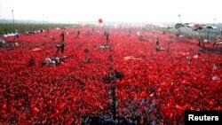 Թուրքիայի նախագահ Ռեջեփ Էրդողանի հրավիրած հանրահավաքը Թուրքիայում, 7-ը դեկտեմբերի, 2016թ.