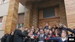 Претседателот на ВМРО-ДПМНЕ, Кристијан Мицкоски и пратениците од ВМРО-ДПМНЕ