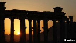 بخشی از محوطه باستانی پالمیرا (تدمر)