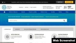 Elektron hökumət portalı. Screenshot.