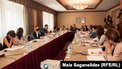 На презентацию законодательных поправок в тбилисской гостинице «Мариотт» были приглашены представители нескольких НПО. Инспектор по защите персональных данных объяснила, почему она уже в третий раз за год требует пересмотреть законодательство