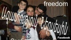 Ներսես Պողոսյանն իր ընտանիքի հետ, արխիվ