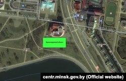 Мапа з экалягічнай экспэртызы, апублікаванай на сайце Цэнтральнага раёну Менску