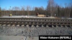 Железная дорога на станции Шиес