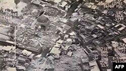 Իրաքի զինված ուժերի տրամադրած լուսանկարը, որում պատկերված է Ալ-Նուրի մզկիթի պայթյունը, 21-ը հունիսի, 2017թ․