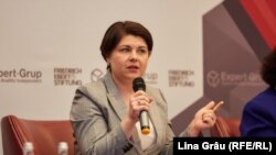 Ex-ministra de finanțe Natalia Gavriliță. 7 noiembbrie 2019