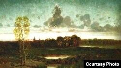 Ранішняя зорка. Мастак Ёзэф Шэрментоўскі. Алей, палатно. 1874г.