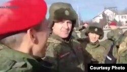 Чеченские бойцы военной полиции перед отправкой в Сирию