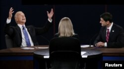 در مناظره پنجشنبه، جو بایدن چندین بار حرف پل رایان را قطع کرد