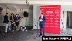 Rasim Bajrović, vlasnik i direktor Europa grupacije tokom najave o otvaranju novog kino kompleksa