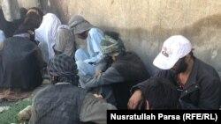 یکی از محلهای تحمع معتادین مواد مخدر در کابل