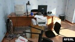 Ператрус у менскім офісе Радыё Рацыя ў 2008 годзе