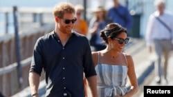 Принц Гарри и его жена Меган Маркл.