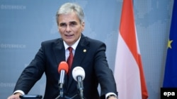 Belgium - Austrian Federal Chancellor Werner Faymann gives a press conference at the end of an extraordinary EU Summit on the current migration and refugee crisis in Europe, in Brussels, Belgium, 24 September 2015