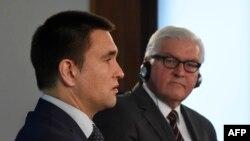 Міністр закордонних справ україни Павло Клімкін (ліворуч) і його німецький колега Франк-Вальтер Штайнмаєр