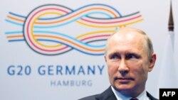 Владимир Путин (Гамбург, 8 июля 2017 г.)