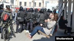 Оппозиционный митинг в Москве, март 2017 год