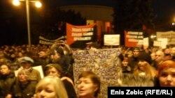 Антивладин протест во Загреб, Хрватска