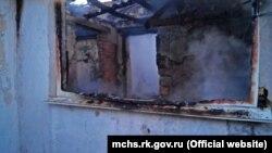 Будинок, що згорів Кіровському районі