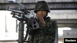 Військовий у центрі Бангкока, 20 травня 2014 року