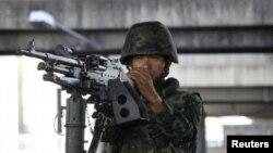 Военнослужащий в центре Бангкока. 20 мая 2014 года.