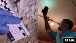 На прохання Радіо Свобода відеозапис із місця подій і фотографії знахідок (отворів на горищі та в стелі на кухні журналіста Михайла Ткача) переглянули вісім спеціалістів