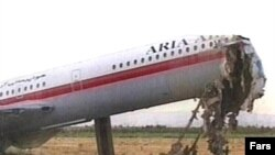 The plane skidded off the runway and hit a wall