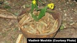 Цветы в найденной каске - традиция поисковиков