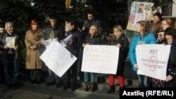 Украина Югары Радасы кабул иткән кануннарга ризасызлык митингы. Акмәчет, 17 гыйнвар