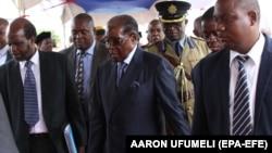 Զիմբաբվեի նախագահ Ռոբերտ Մուգաբեն Հարարեում միջոցառման ժամանակ, 17-ը նոյեմբերի, 2017թ․