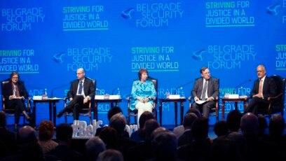 Učesnici panela o Zapadnom Balkanu na Beogradskom bezbednosnom forumu