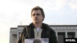 Анатоль Лябедзька патрабуе вызваленьня палітвязьняў, 30 сакавіка 2008 г.