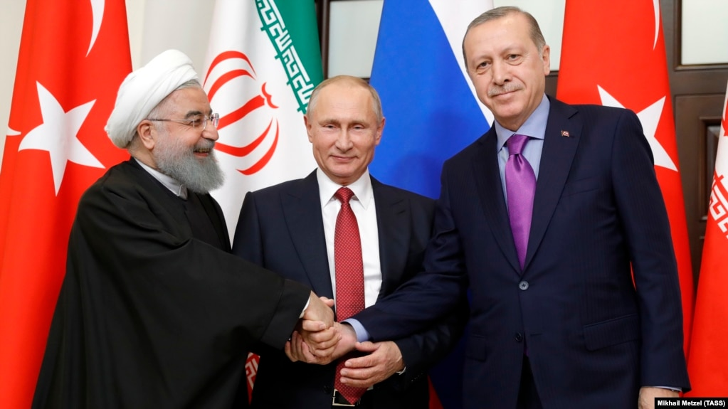 Image result for photos of Iranian leaders with Putin