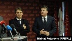 Predsjednik Demokratske fronte Željko Komšić i prvi čovjek Socijaldemokratske partije BiH Nermin Nikšić, arhivska fotografija
