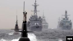 Военные корабли НАТО в Северном море. Иллюстративное фото.