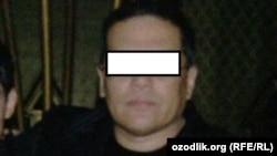 """Nozim Jumayev.Rasm """"Markaziy Osiyoda inson huquqlari assotsiatsiyasi"""" tarafidan taqdim qilindi."""