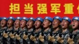 Militari chinezi, în timpul paradei de anul trecut, la 70 de ani de la fondarea Republicii Populare Chineze