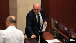 Marko Zvërlevski në Kuvendin e Maqedonisë