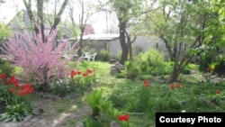 Larisa Kozynaya hopes guests appreciate her garden in Dnipropetrovsk.