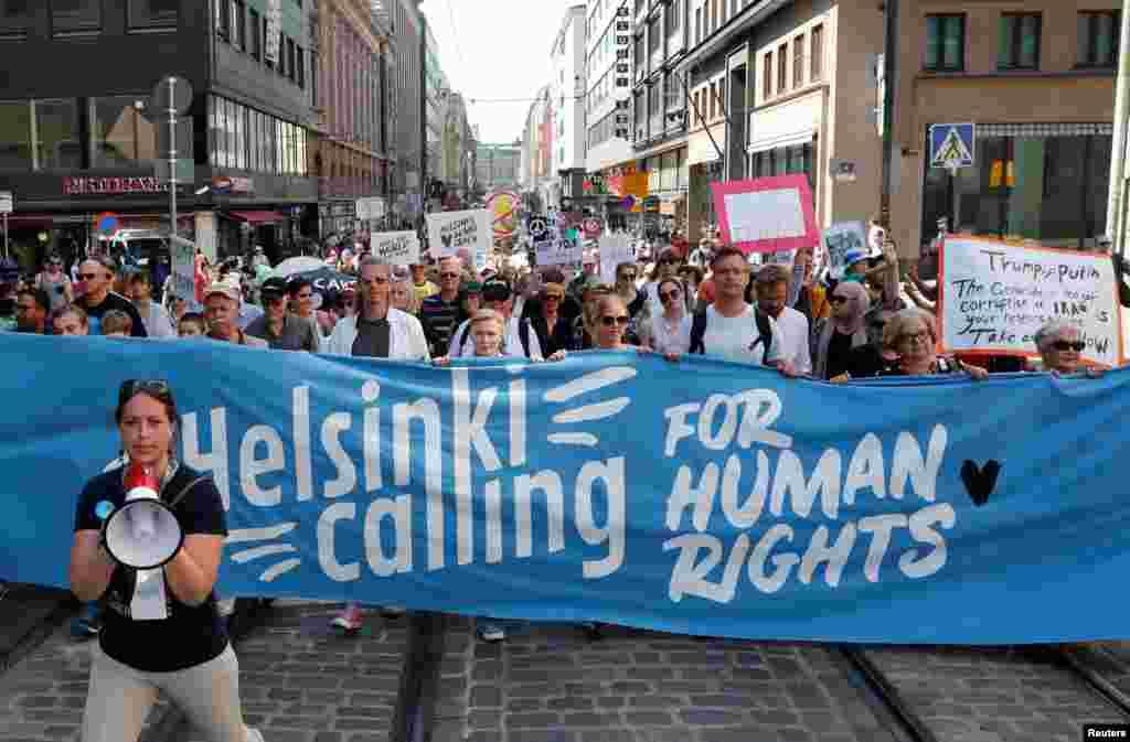 Марш прошел под лозунгом «Хельсинки – за права человека»