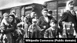 Німці-біженці на шляху з Чехословаччини до Німеччини, 1945 рік