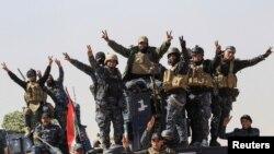 Iraq, polislər, Mosul, 22 fevral 2017