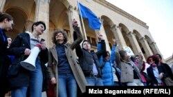 Arxiv fotosu: Tbilisidə 8 mart aksiyası