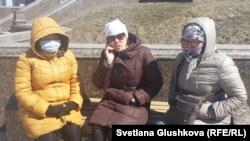 Борышкерлердің бір тобы. Астана, 14 сәуір 2015 жыл.