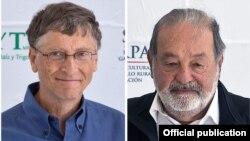 Dy njerëzit më të pasur në botë: Bill Gates (majtas) dhe Carlos Slim Helu