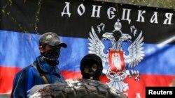 Про-російські активісти у Слов'янську, Донецька область, 15 квітня 2014 року