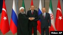Ռուսաստանի, Թուրքիայի և Իրանի նախագահների հանդիպումներից, 2018թ․