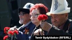 Ветераны Второй мировой войны. Бишкек, 9 мая 2017 года.